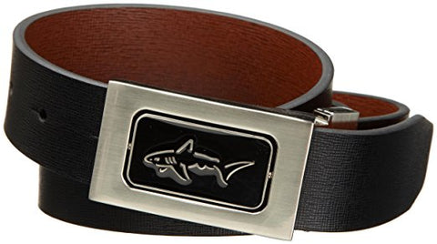 Greg Norman Mens Fore Way Reversible Belt, Black/Chocolate