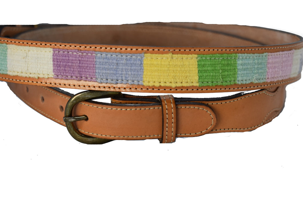Children's Leather Light Woven colored Belt