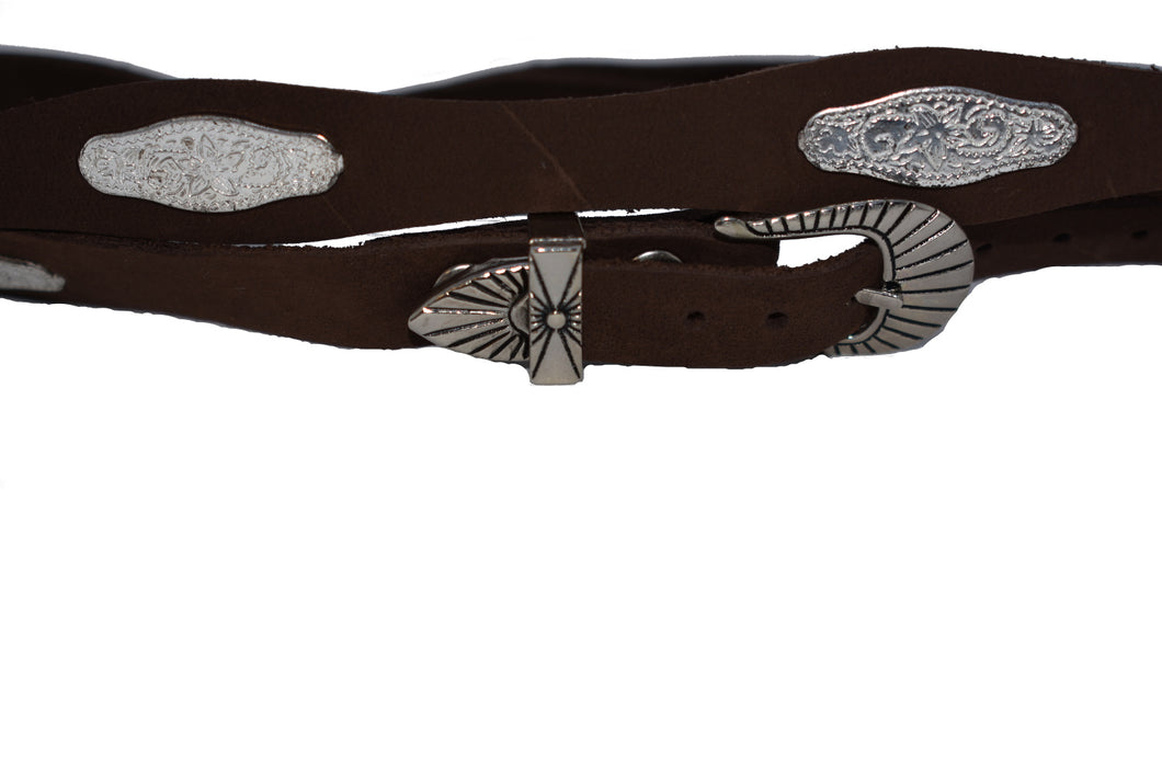 Western Hat Band with Oval Conchos