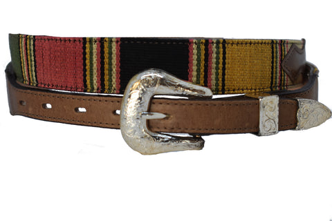 Children's Leather Belt with Fancy Buckle