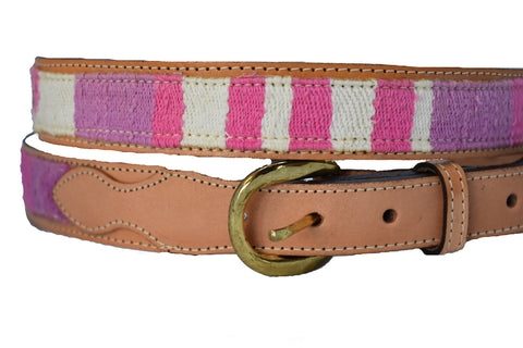 Children's Pink and Purple design Leather Belt