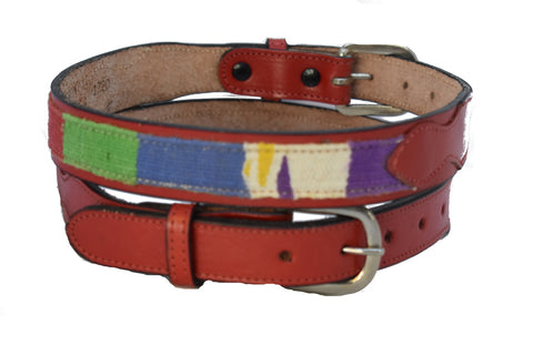 Children's Red Belt with multi-color design