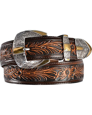 Tony Lama Men's Contermporary Belt Brown Size 34