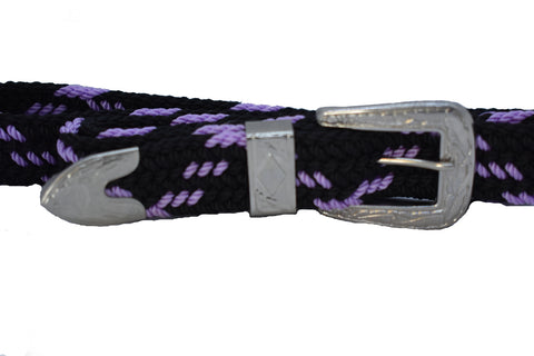 Women's Woven Belt Fancy Buckle