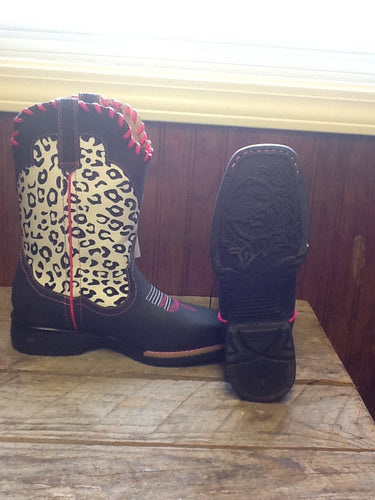 Cinch Girls Leopard Boot