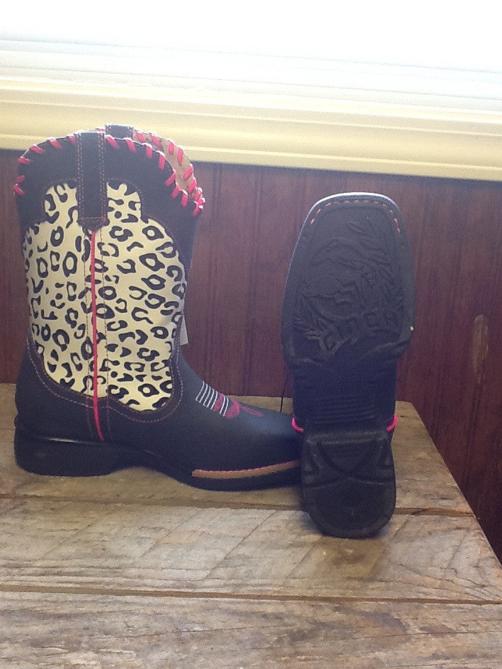 Cinch Leopard & Pink Boot