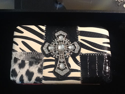 Zebra Print Hard Shell Wallet