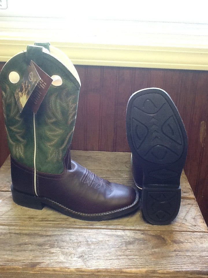 Old West Green Ladies Boot
