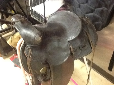 "Harpham Brothers 14"" Saddle circa 1900 to 1921"