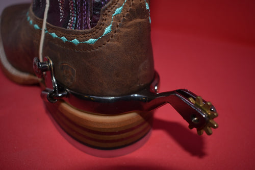 Women's Western Spurs with Copper Inlay