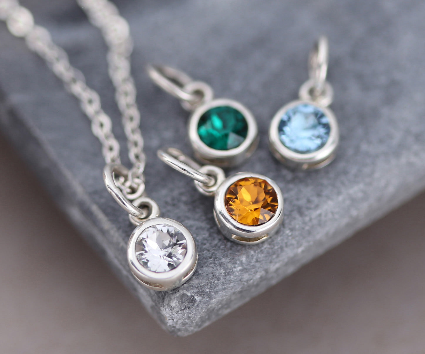 Crystal Birthstone Necklaces
