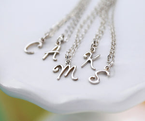 Script Initial Necklaces