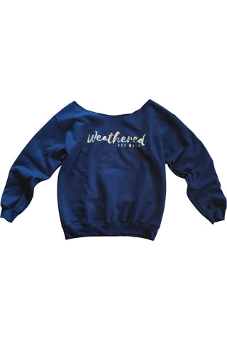 Weathered Not Worn Off-shoulder Sweatshirt
