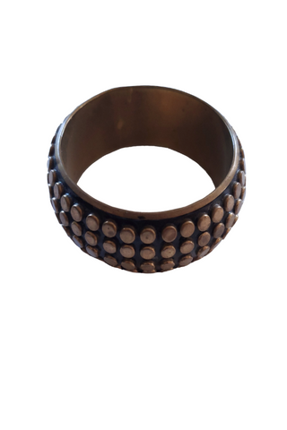 Black and Gold Metal Bangle
