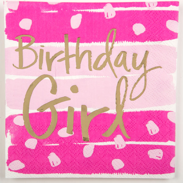 Beverage Napkin - Birthday Girl
