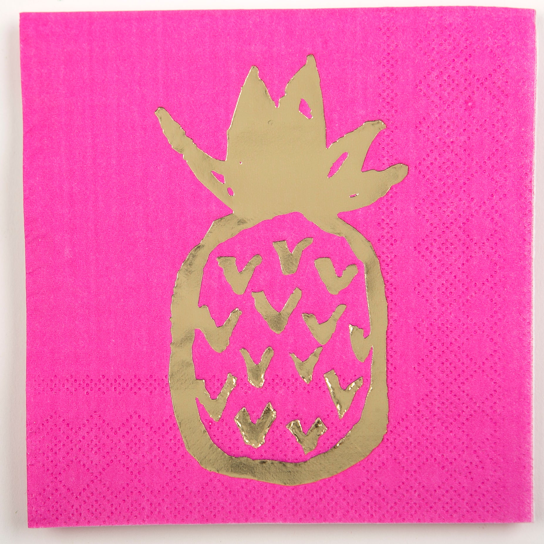 Beverage Napkin - Large Pineapple