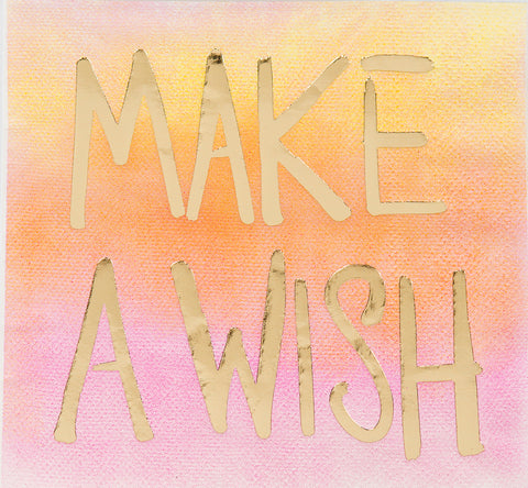 Beverage Napkin -  Make a Wish