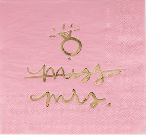 Beverage Napkin - Miss Mrs