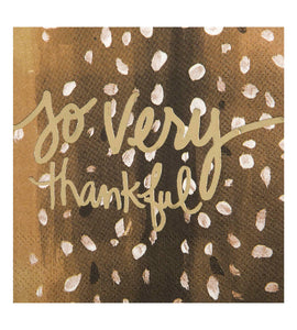 Beverage Napkin - So Very Thankful!