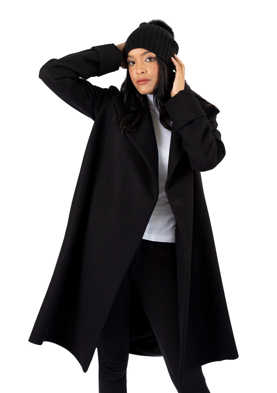 The Southport Overcoat - Black