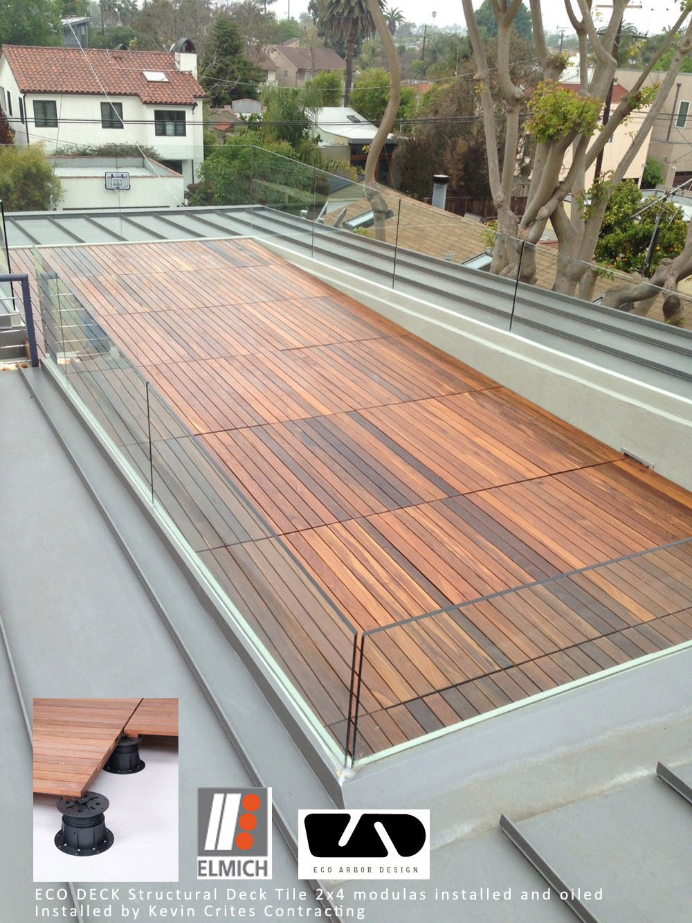 roof deck in los angeles structural deck tiles 2x4 ipe deck tiles