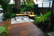 los angeles patio with deck tiles