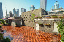 roof top covered in deck tiles