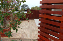 Eco Decking Tiles Premium Interlocking Garapa Blonde Wood Deck Tiles
