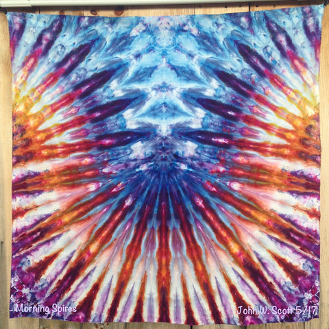 Morning Spires - large tapestry