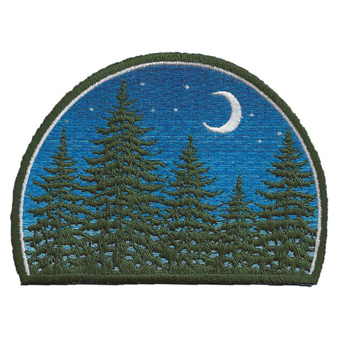 Night Forest Embroidered Patch