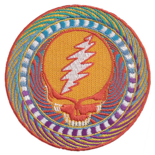 Orange Sunshine Embroidered Patch