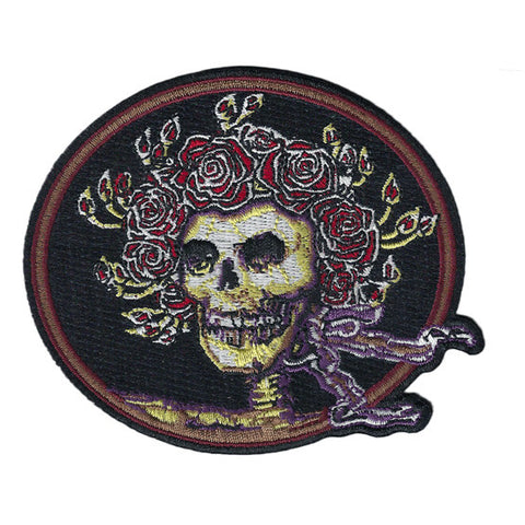 Skull & Roses Embroidered Patch