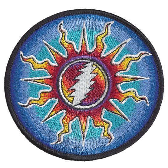 Sunshine Lightning Embroidered Patch