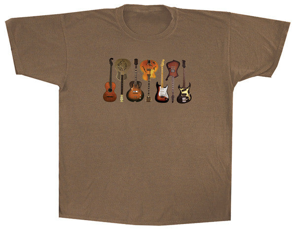 Guitars II Brown T-Shirt