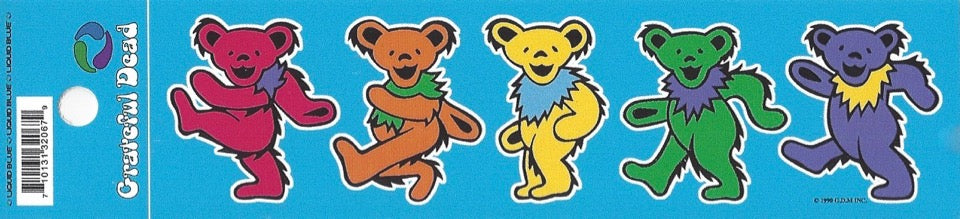 Dancing Bears mini sticker