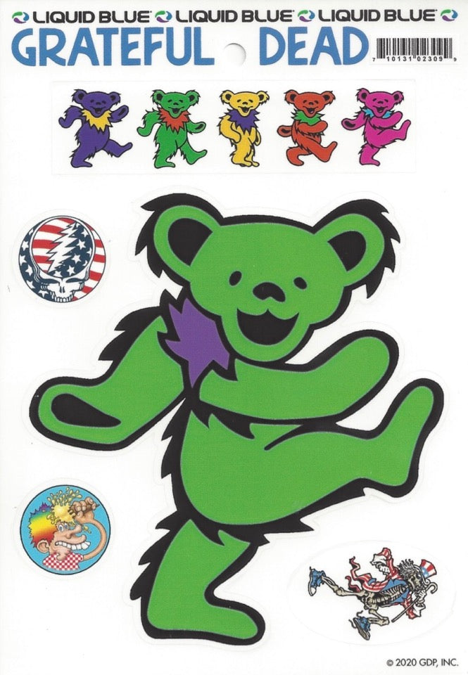 Dancing Bear - Green die-cut decal