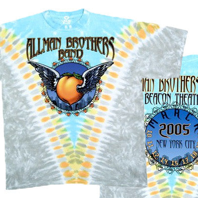 Allman Brothers - Flying Peach Tie-Dye T-Shirt