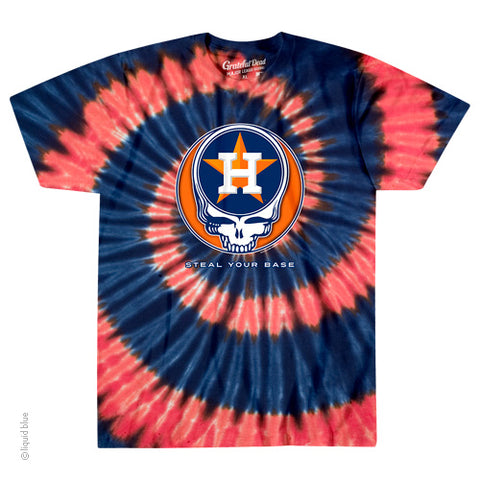 Houston Astros Steal Your Base Tie-Dye T-Shirt