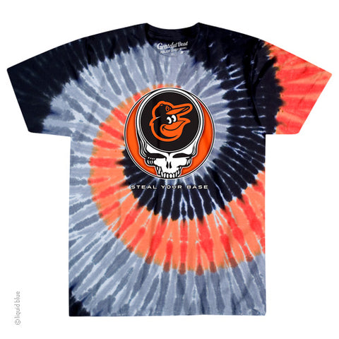 Baltimore Orioles Steal Your Base Tie-Dye T-Shirt