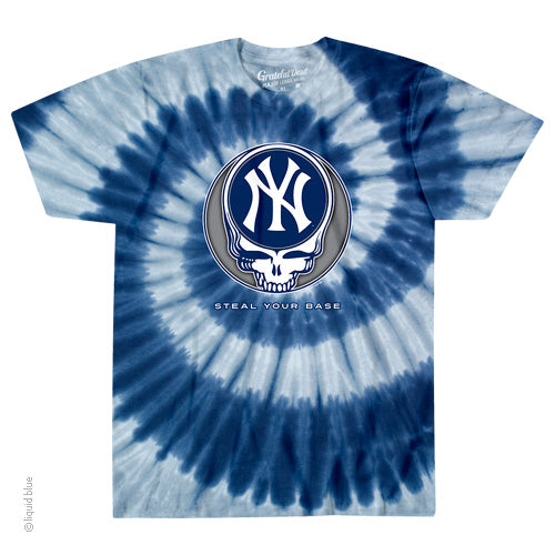 New York Yankees Steal Your Base Tie-Dye T-Shirt