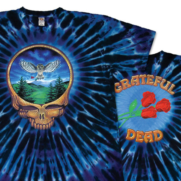 Steal Your Face Owl Tie-Dye T-Shirt