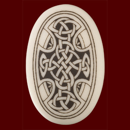Celtic Cross Oval Pendant