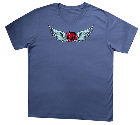 Rose Wings blue T-shirt