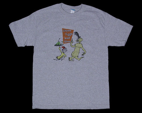 Vintage Green Eggs & Ham athletic heather - S