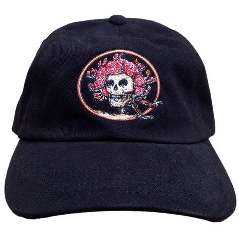 Skull And Roses Black Hat