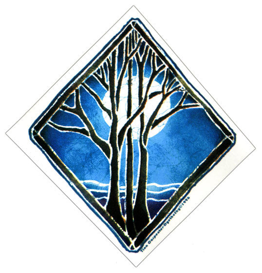 Night Tree sticker
