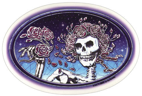 Skull And Roses Oval decal
