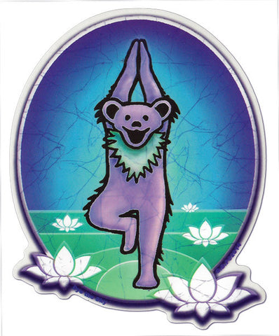 Yoga Bear decal