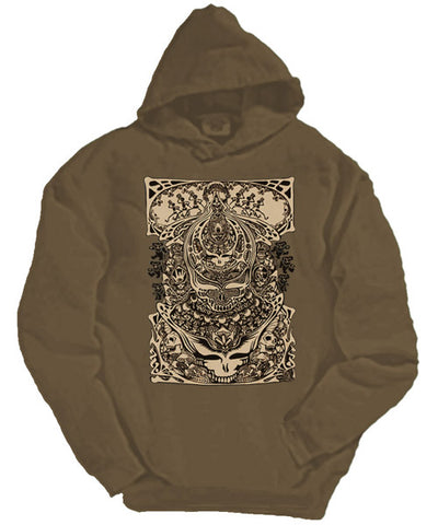 Aiko brown hooded sweatshirt