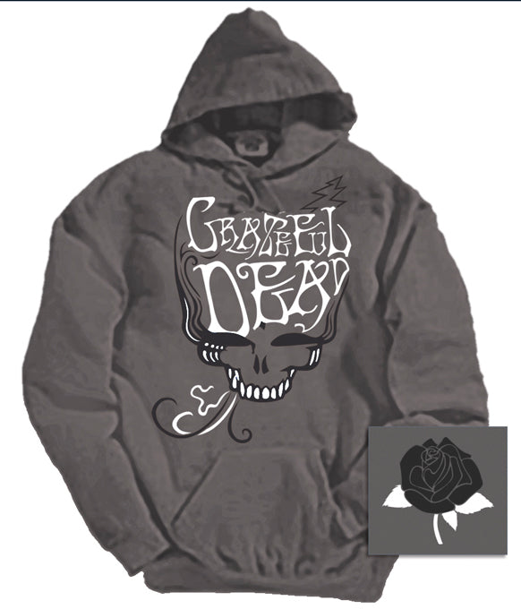 Blue Rose Smoke charcoal hooded sweatshirt
